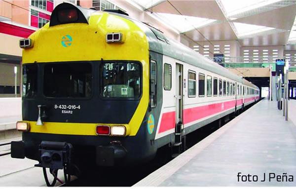 Mabar M-84325s - Spanish 3 unit Railcar UT432 of the RENFE REGIONALES (DCC Sound Decoder)