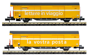 Mabar M-86502 - Set 2 SBB Post wagons yellow