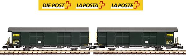 Mabar M-86503 - 2pc SBB Post Wagon Set green-new logo