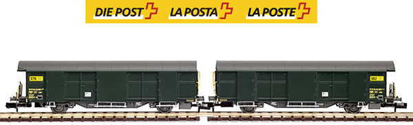 Mabar M-86503 - 2pc SBB Post Wagon Set green-new logo