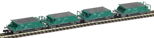 Mabar M-87200 - Set 4 hopper wagon RENFE green