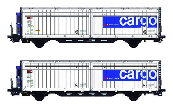 Mabar M-87512 - 2pc Hbbills Wagon Set #078/116 Weathered