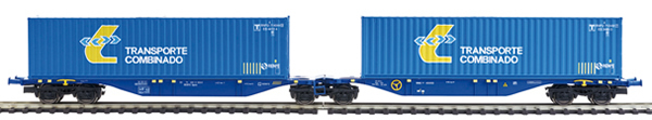Mabar MH-58875 - 2pc Container Wagon Set TRANSPORTE COMBINADO