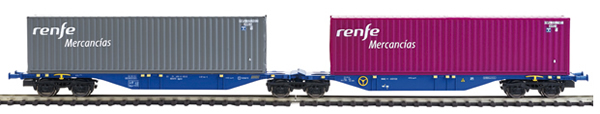 Mabar MH-58876 - 2pc Container Wagon Set  RENFE MERCANCIAS