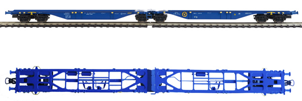 Mabar MH-58882 - 2pc Container Wagon Set without containers