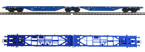 Mabar MH-58883 - 2pc Container Wagon Set without containers
