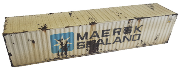 Mabar MH-58885 - Container 40 MAERSK SEALAND weathered