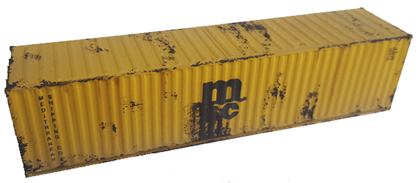 Mabar MH-58888 - Container 40 MSC weathered