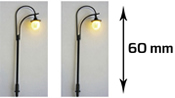 2 single streetlights with LED