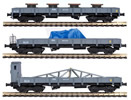 3pc Flat Car Set with load
