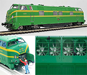 Spanish Diesel Locomotive 4020 UIC 340-020-3 of the RENFE (DCC Sound Decoder)