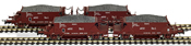 4pc Hopper Wagon Set RENFE brown