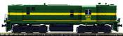 Spanish Diesel Alco Locomotive 1350 of the RENFE