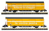 Set 2 SBB Post wagons yellow