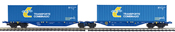 2pc Container Wagon Set TRANSPORTE COMBINADO