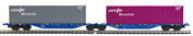 2pc Container Wagon Set  RENFE MERCANCIAS