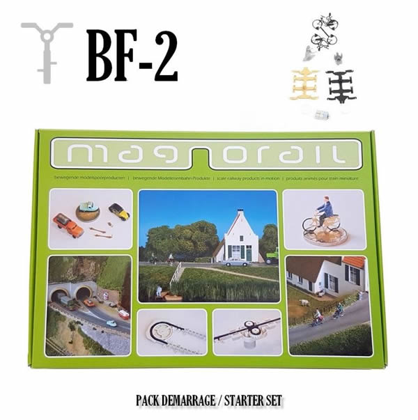 Magnorail BF-2 - Complete Set Magnorail + 2 cyclists H0/OO BF-2