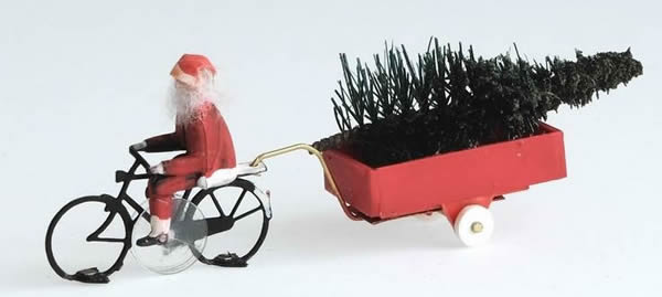 Magnorail KKf-1 - Santa Claus bicycle ready to run HO/OO for Magnorail System KKf-1