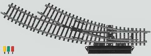 Marklin 2268 - K TRACK TURNOUT LH REMOTE
