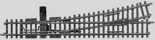 Marklin 22715 - K TRACK LEFT TURNOUT 35-1/2