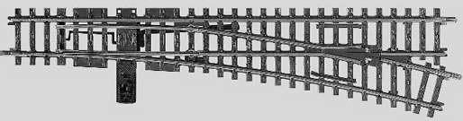 Marklin 22716 - K TRACK RIGHT TURNOUT 35-1/2
