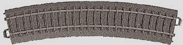 Marklin 24224 - C CURVED TRACK 17-1/4
