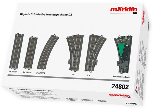 Marklin 24802 - Digital C Track extension set D2