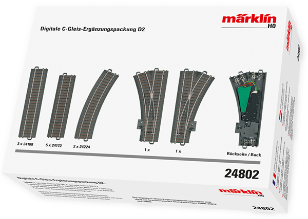 Marklin 24802 - Digital C Track extension set D2