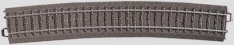 Marklin 24912 - C CURVED TRACK 43-7/8