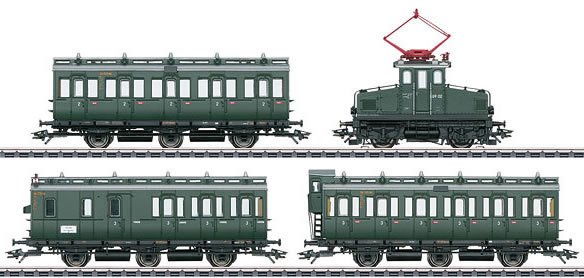 Marklin 26195 - German Electric Locomotive E 69 with 3 Prussian Compartment Car of the DB (Sound Decoder)
