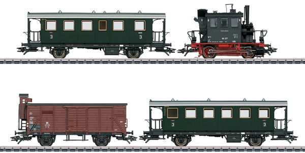 Marklin 26609 - German Passenger Train with a Freight Car (PmG)