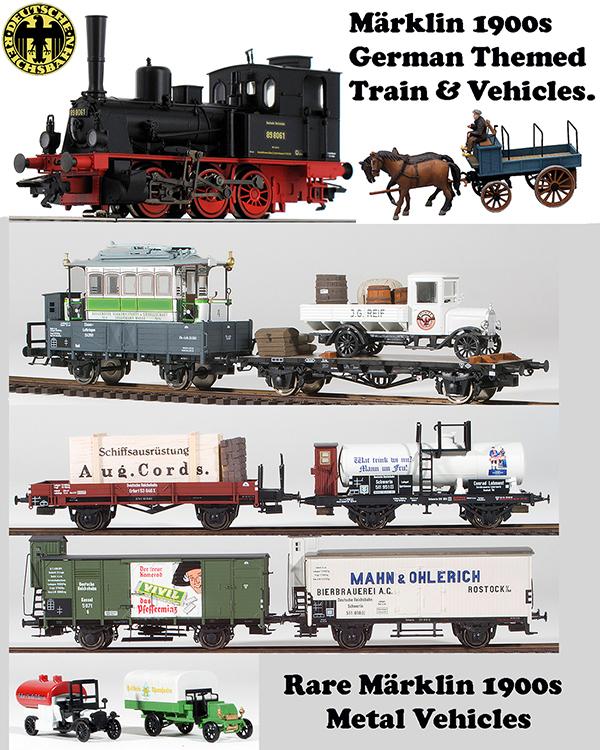 Marklin 266141 - 1900s DRG German Themed Train & Vehicles