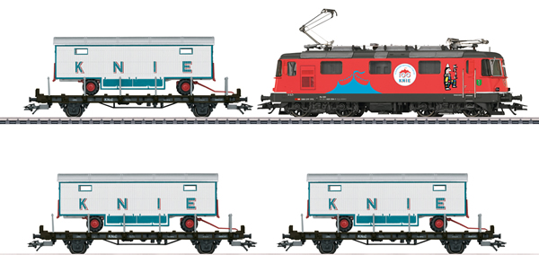 Marklin 26615 - Swiss 100 Years of the Swiss National Circus Knie Train Set of the SBB (Sound)