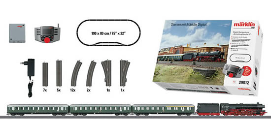 Marklin 29012 - German Express Train Starter Set w/Mobile Station of the DB (Sound Decoder)