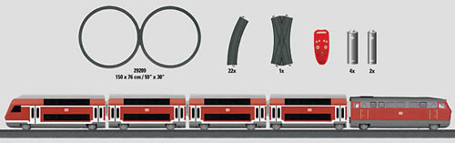 Marklin 29209 - Starter Set Regional Express Battery Operated