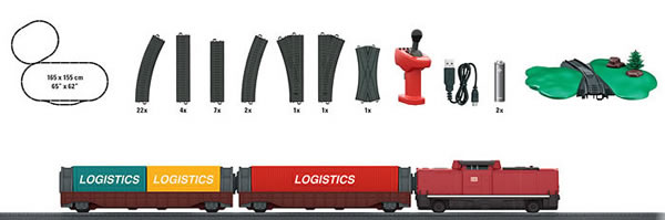 Marklin 29309 - MyWorld Battery Operated Starter Set Freight Train