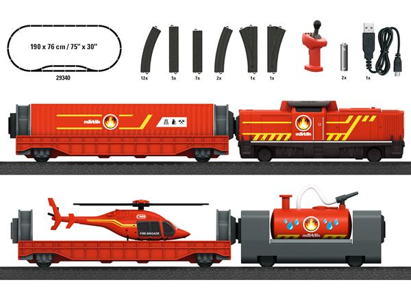 "Marklin 29340 - ""Fire Department"" Starter Set - My World (Rechargable)"