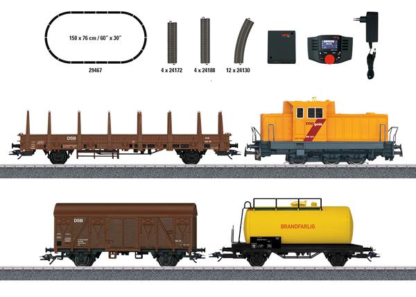 """Marklin 29467 - Danish Freight Train"""" Digital Starter Set (Sound)"""