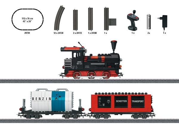 "Marklin 29730 - ""Building Block Train"" Starter Set with Sound and Light Building Blocks."