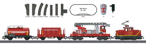 Marklin 29752 - Fire Department Starter Set with IR Controller - Start Up
