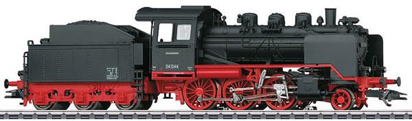 Marklin 36244 - German Steam Locomotive BR 24 with Tender of the DB (Sound Decoder)