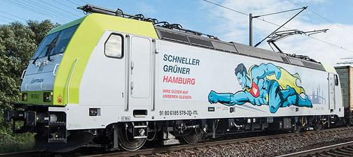 Marklin 36634 - German Electric Locomotive Captrain Class 185.2, 150th anniv. of Hamburg Harbor RR (Sound Decoder)