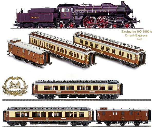 Marklin 370181 - 1900s Calais-Méditerranée Orient Express Set