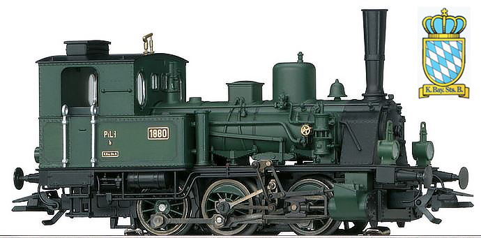 Marklin 37189 - German Bavarian Tank Loco PtL 3/3 K.Bay.Sts.B (SOUND)