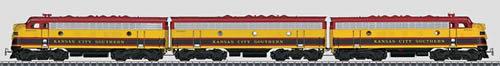 Marklin 37628 - Kansas City Southern EMD F 7 A-B-A Diesel Electric Locomotive (2012 Marklin EXPORT Item)