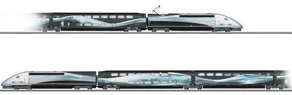 Marklin 37797 - Dgtl SNCF TGV Duplex V 150 High-Speed Train World Record Run 2007, Era VI