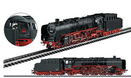 Marklin 39007 - German Anniv Express Steam Locomotive BR 01 w/Tender & Wood Case of the DB (Sound Decoder)