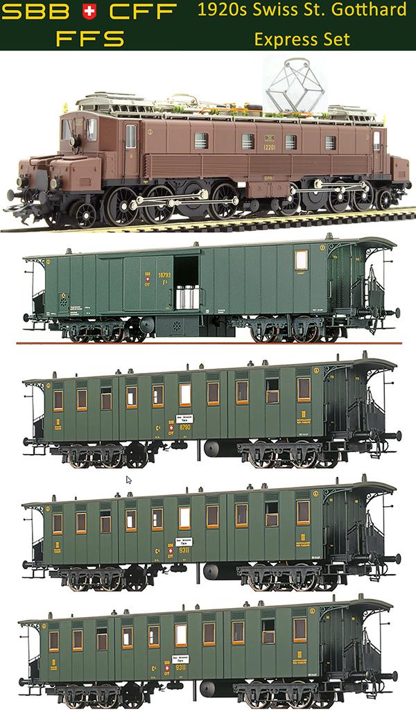 Marklin 39520-1 - 1920s St. Gothard Tunnel Express Train