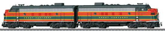 Marklin 39621 - USA Diesel-Electric Locomotive F7 of the GN (Sound Decoder)