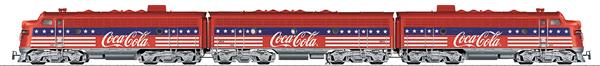 Marklin 39622 - Dgtl Coca-Cola F7 ABA Diesel Electric Locomotive
